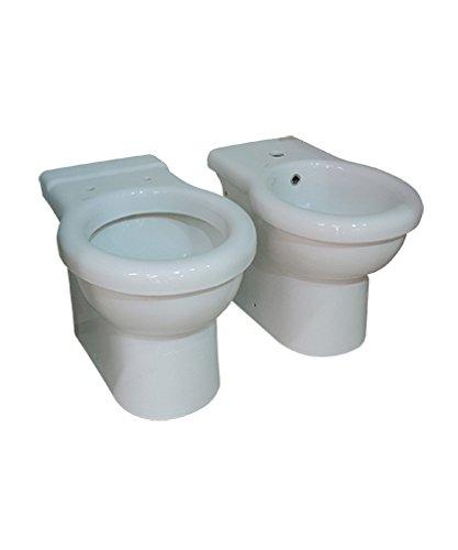Sanitari bagno vaso wc water filo muro, bidet e coprivaso, Kerasan Volant