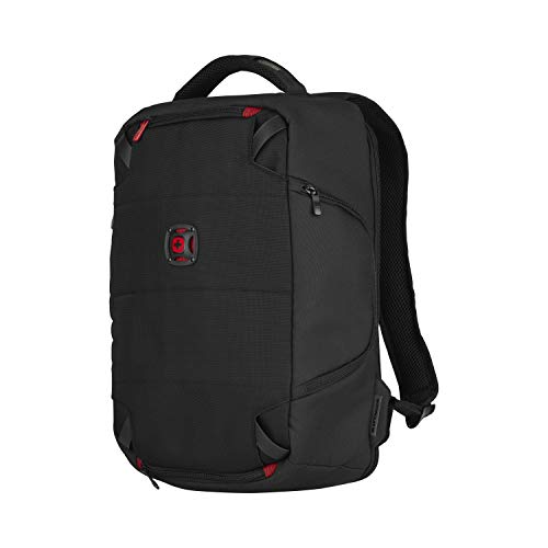 Wenger 606488 TECHPACK 14' Laptop Backpack, for Tech Equipment with Fully customizable padded dividers in Black {12 Litres}