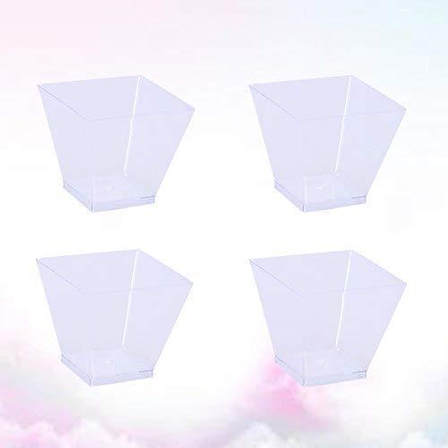 BESTonZON 50PCS 60ml Mini Tazas de Postre Plástico, Pequeñas Copas Desechables Transparente para Trifle y Jalea Platos de...