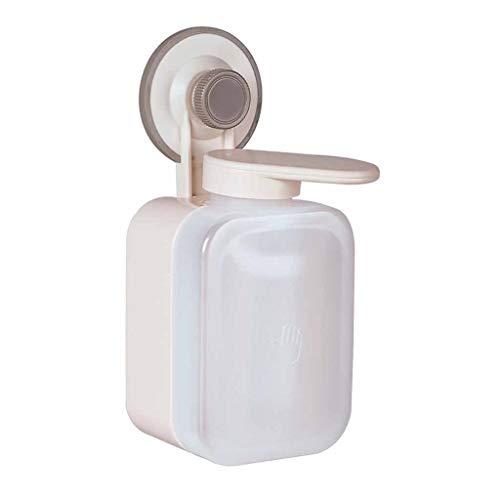 Dispensador de jabón sin contacto con ventosa para montar en la pared, dispensador de jabón manual impermeable para cocina, baño, hogar, restaurante, hotel