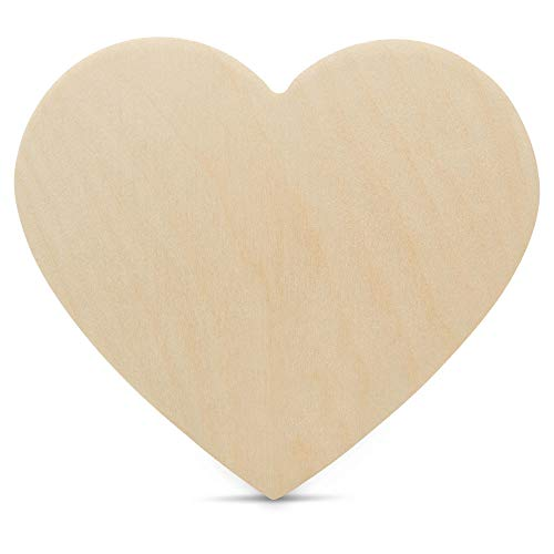 Wooden Heart Cutouts for Crafts 18 inch, 1/4 inch Thick, Pack of 3 Unfinished Heart Shaped Wooden Cutouts, by Woodpeckers