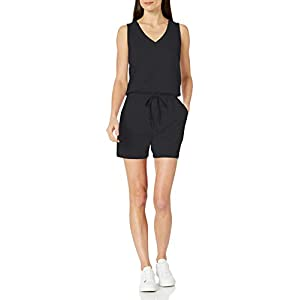 Amazon Essentials Women's Studio Terry Fleece Romper