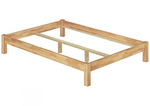 Erst-Holz® Doppelbett Futonbett Überlänge 140x220 Buche-Bettgestell massiv ohne Zubehör 60.84-14-220 oR