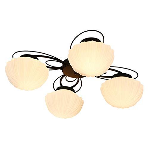 American Style verlichting voor de slaapkamer, moderne plafondlamp, eenvoudige woonkamer, retro, slaapkamer, restaurant, studio, kinderen, lampen en lantaarns (kleur: zes koppen)