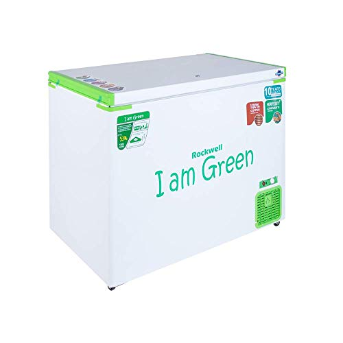 ROCKWELL Convertible Green Freezer GFR350SDUC, 315 Litres, 10 years On Body, Copper Cooling Coil, Upto 53% Power Saving, 90mm PUF, Single Door