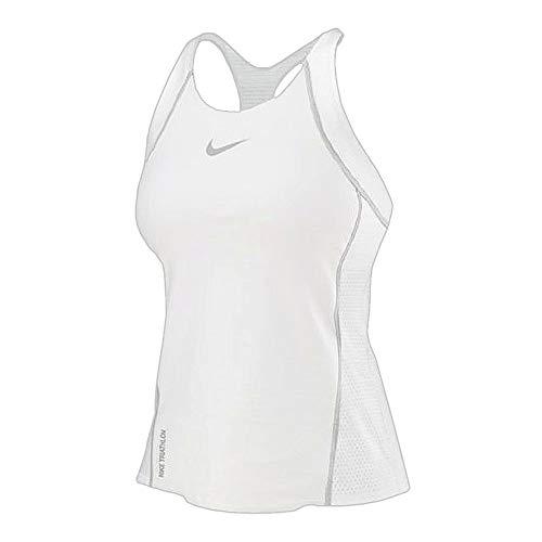 Nike Women's Triathlon Swim Activewear Sports Top, White (Small)