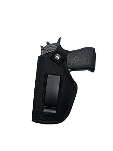 Vacod Universal Gun Holster for Concealed Carry Inside or Outside The Waistband Pistols Holsters for Right and Left Hand Draw Holster for Men/Women Fits S&W, Similar Handguns,Black (1)