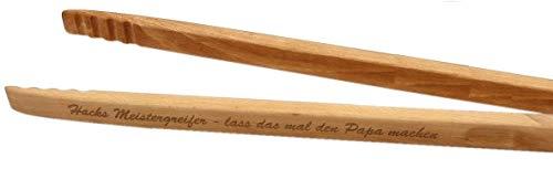 Ludomax Grillzange Zetzsche 60 cm lang mit individueller Gravur, das Männer Geschenk