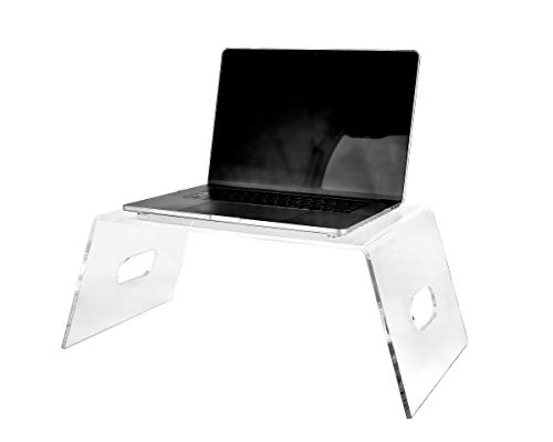 Adir Acrylic Monitor Stand - Clear Laptop Lift Holder, Portable Computer Tray for Desk, Bed, Indoor & Outdoor ( Premium Quality)
