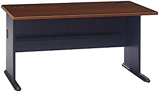 Bush Business Furniture Series A 60W Desk in Hansen Cherry and Galaxy
