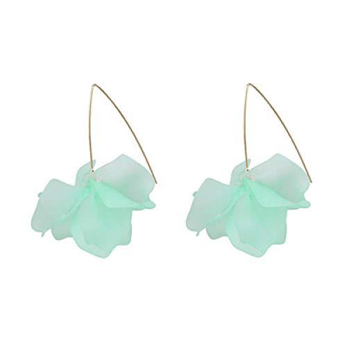 N/A Pendientes de Gota de Hoja de Resina acrílica, joyería Cuadrada de Acetato geométrico de Moda para Mujer 52076-LG
