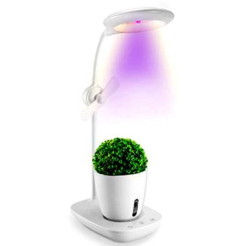 Doris Lámparas LED para Plantas, Kit De Cultivo Hidropónico, Kit De Jardinería Interior para Escritorio, Luz De Lectura USB, Tecla Táctil Jardín De Hierbas para Interior,Blanco