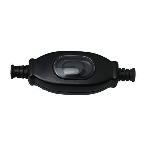 BQLZR - Interruptor basculante para mesa o cama, de plástico, color negro