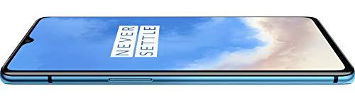 OnePlus 7T Smartphone Glacier Blue | 8 GB RAM + 128 GB Speicher | Triple Kamera + Front-Kamera | Warp Charge 30 [Version Allemande/Version espagnole/Version Italienne]