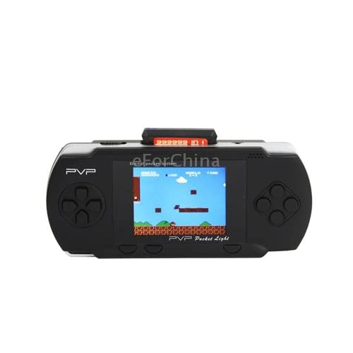 eForChina 2.7 inch LCD Display PVP Pocket Game Console with Game Card (Black)