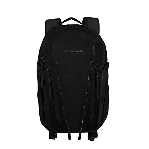 Sherpani Quest, Anti Theft Travel Backpack for Women, 14L Metrosafe Daypack, with RFID Protection and 13 Inch Laptop Sleeve (Carbon)