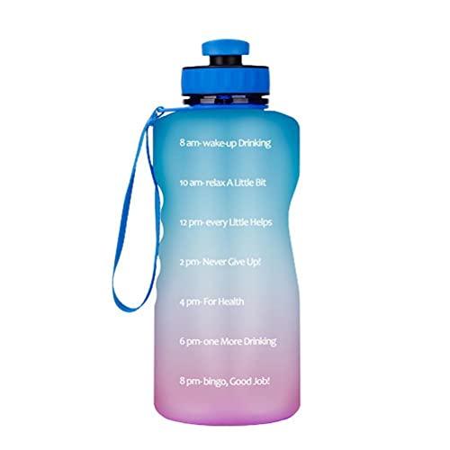Knowoo Botella de agua deportiva – 2200 ml – no tóxica libre de BPA y respetuoso con el medio ambiente – plástico Tritan – para correr, gimnasio, yoga, al aire libre y camping