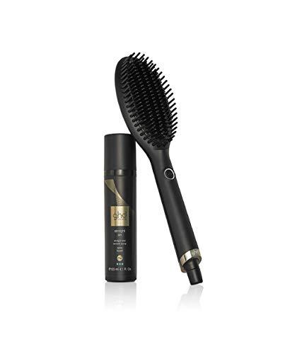 ghd power dúo - Cepillo alisador de pelo ghd glide y spray de alisado del cabello profesional ghd straight on