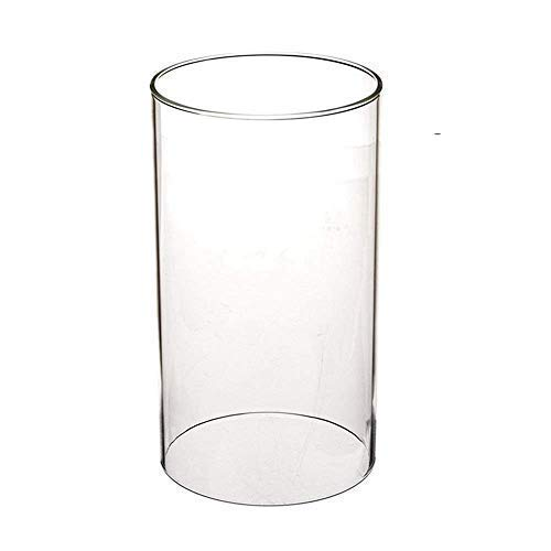 Sunwo, Portacandele trasparente in vetro borosilicato, con estremità aperta, dimensioni disponibili: 8 cm, 9 cm, 10 cm, 12 cm, 13 cm, 14 cm, 15 cm, 18 cm, 20 cm