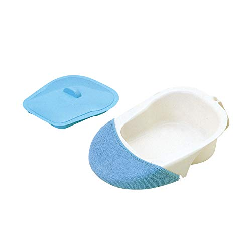 YFGlgy Bedpan with Lid and Holder for Patients with Inconvenient Movement After Surgery, Fracture Bed Pan, Health Care