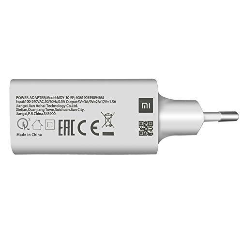 Caricatore Originale Mi MDY-10-EF Quick Charge 3.0 (18W / 5V / 3A) Tipo di Cavo + C (MDY-10-EF)