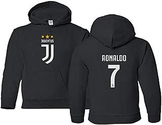 Spark Apparel New Soccer Shirt #7 Cristiano Ronaldo CR7 Boys Girls Youth Hooded Sweatshirt