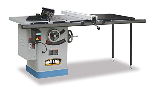 """Baileigh TS-1040P-50 Professional Cabinet Style Table Saw, 3 hp, Single Phase, 220V, 40"""" x 27"""" Table, 50"""" Max Rip Cut, 10"""""""
