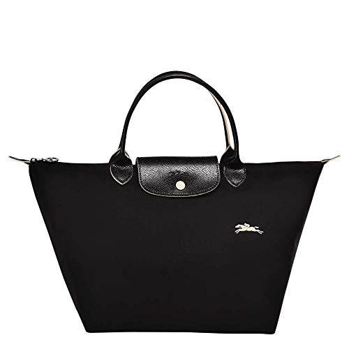 Longchamp 'Medium Le Pliage Nylon Club Tote Top Handle Bag, Black