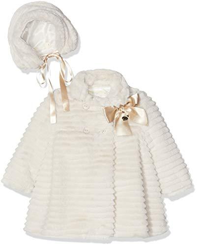 Rigans Abrigo Pelo BB Paris Bebé-Niñas, Beige (Beige 476), 74 (Tamaño del Fabricante:1) para Bebés