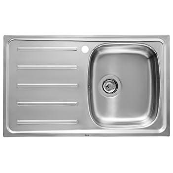 Franke fregadero de cocina de acero inoxidable seda gris con /único cuenco de EUROSTAR ETN 614i Nova 101.0368.930