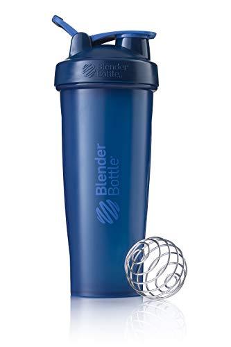 BlenderBottle Classic Loop Shaker mit BlenderBall, optimal geeignet als Eiweiß Shaker, Protein Shaker, Wasserflasche, Trinkflasche, BPA frei, skaliert bis 800 ml, 940 ml, navy blau