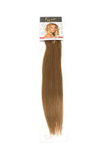 1st Lady soyeux droites Naturel européen 3 pcs extension de cheveux humains à clipser avec Premium Blend, numéro 8, souris, Marron, 45,7 cm 28 g
