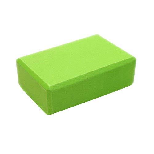 WTTX, blocco per yoga, ecologico e facile da trasportare, in schiuma EVA, supporto e equilibrio per donne e uomini (verde) 1pcs