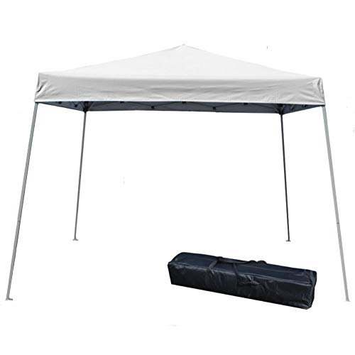 Impact Canopy 040000001 Slant Leg Canopy, 10' x 10', White-No Sidewall