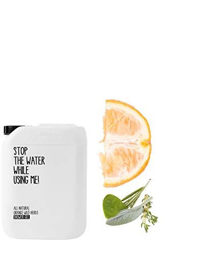 STOP THE WATER WHILE USING ME! All Natural Orange Wild Herbs Shower Gel Refill Kanister (2l), veganes Duschgel im 2000ml Nachfüll-Kanister, Naturkosmetik geeignet für Frauen und Männer