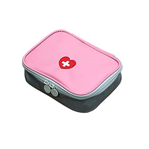 HEHXKJ Caja médica 13x10x4cm Bolsa de Medicina portátiles Kits de Primeros Auxilios Bolsa Bolsa de Emergencia Organizador Deportes Medicina píldora Bolsa de Almacenamiento (Color : Pink)