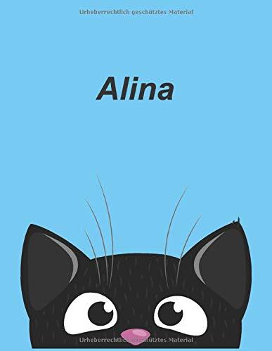 Personalisiertes Notizbuch: Alina - über 100 Seiten, Dot Grid Notizbuch im A4+ Format mit Punkteraster