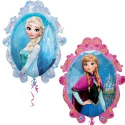Ballonim® Frozen Spiegel Anna & ELSA ca. 80cm Luftballons Folienballon Party DekorationGeburtstag