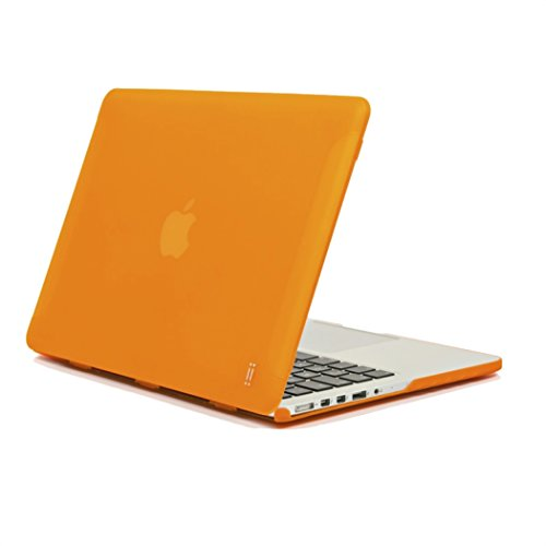 AIINO - Matte Hard Cover for MacBook Pro Retina 15 inch I Protective I Hard Shell Case Cover I MacBook Pro Retina I Case I Sleek Design I MacBook Pro Acessories I Apple Laptop Protection - Orange