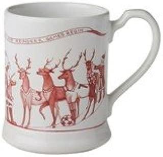 santa claus reindeer pewter mug
