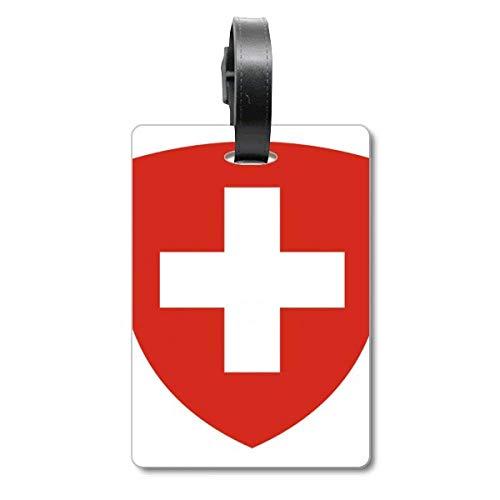 Etiqueta de identificación para Maleta con Emblema Nacional de Suiza Europa