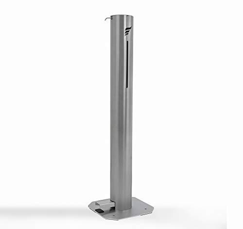 Astreea - Dispensador de desinfectante con pedal grande, independiente, sin tacto, acero inoxidable, 2400 usuarios por recarga