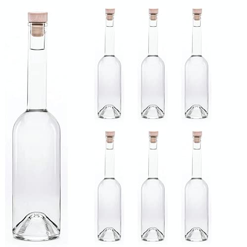 6 x 500 ml (OPI HGK) bottiglie di vetro vuote con tappo da slkfactory (Opera HGK)
