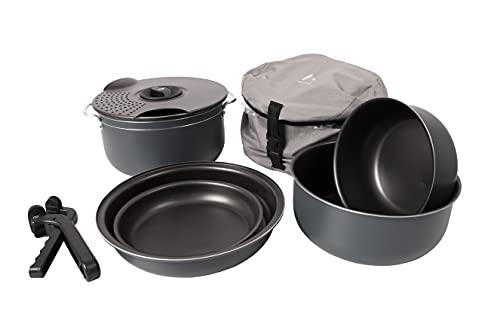 Bo-Camp Camping - Set de Cocina de 7 Piezas con Recubrimiento de Aluminio