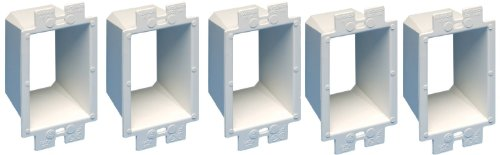 Arlington BE1-5 Electrical Outlet Box Extender, 1-Gang, White, 5-Pack