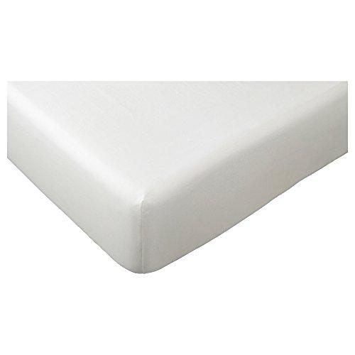 Ikea Dvala - Lenzuolo con angoli, colore: bianco, 200 x 140 cm