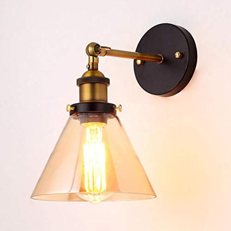 LL LED-Wandlampe Modernes Glas Einfaches Spherical Eisen für den Schlafzimmerkorridor Wohnzimmer-Zimmer, Nachttitseite,A,18x21cm