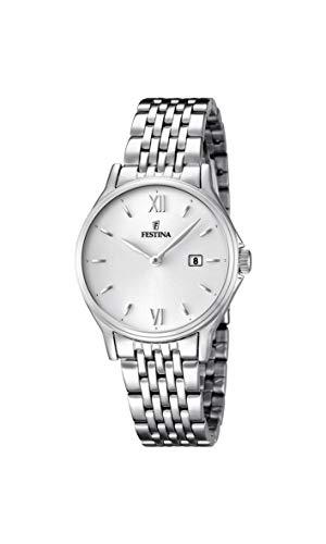 Festina ACERO CLASICO F16748-2 – Reloj de pulsera analógico para mujer, acero inoxidable, cuarzo