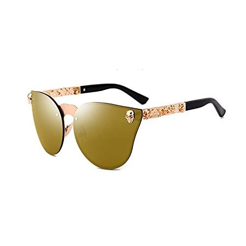 CHYSJ Gafas de Sol exquisitas de pies de Metal, Gafas de Sol Deportivas, Muy adecuadas para Conducir, Pescar, Ciclismo y Correr Anti-Ultravioleta