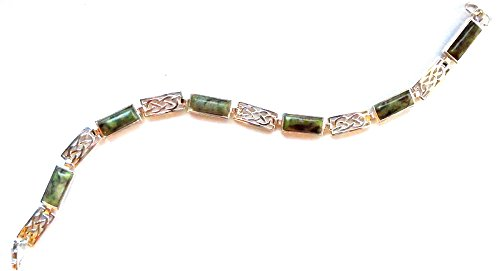 Irish Connemara Marble: Celtic Link Bracelet